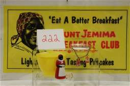 222: Black Americana Aunt Jemima F&F Sugar Bowl, Charm
