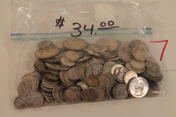 7: Group of Misc Silver Coins - $34.00