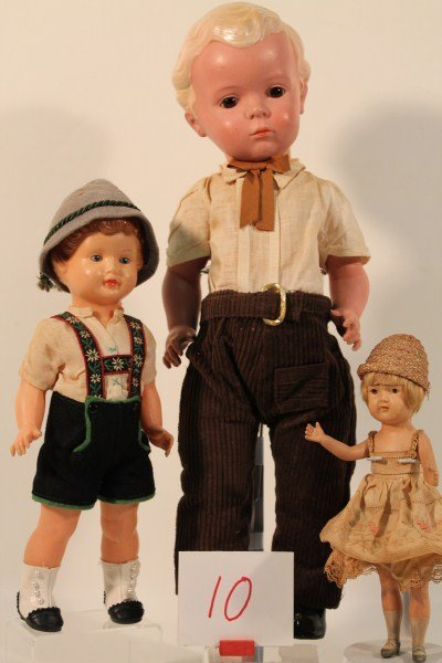 10: Group of Celluloid German Dolls All In Original Cos