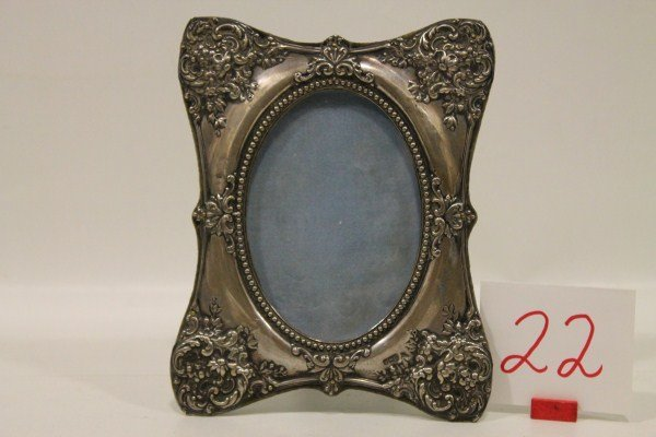 22: Ornate Sterling Picture Frame