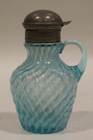 18: Albany Model Flint Blue Syrup Pitcher