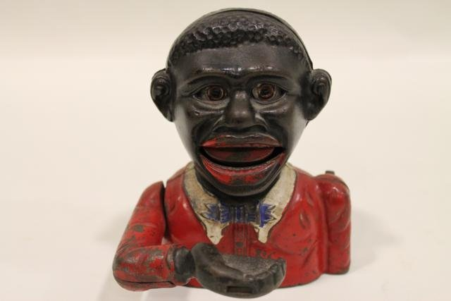 23: Little Joe Mechanical Bank Black Americana