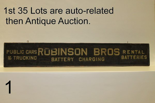 1st 35 Lots Selling Auto-related then Antique Auction