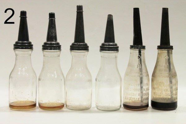 Boxlot Early 1920-30s Oil Bottles