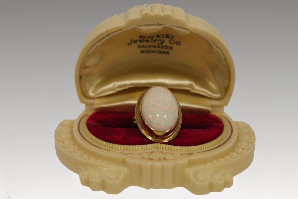 White Opal? & 14K Gold Ring