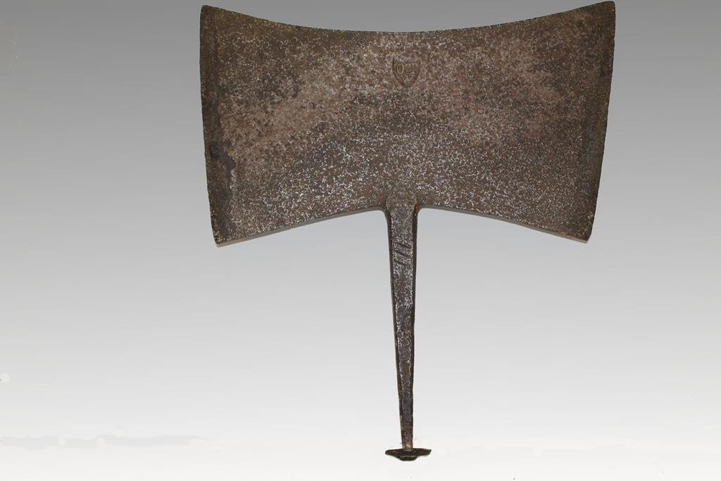 18th C Spanish War Axe Iron From Museum