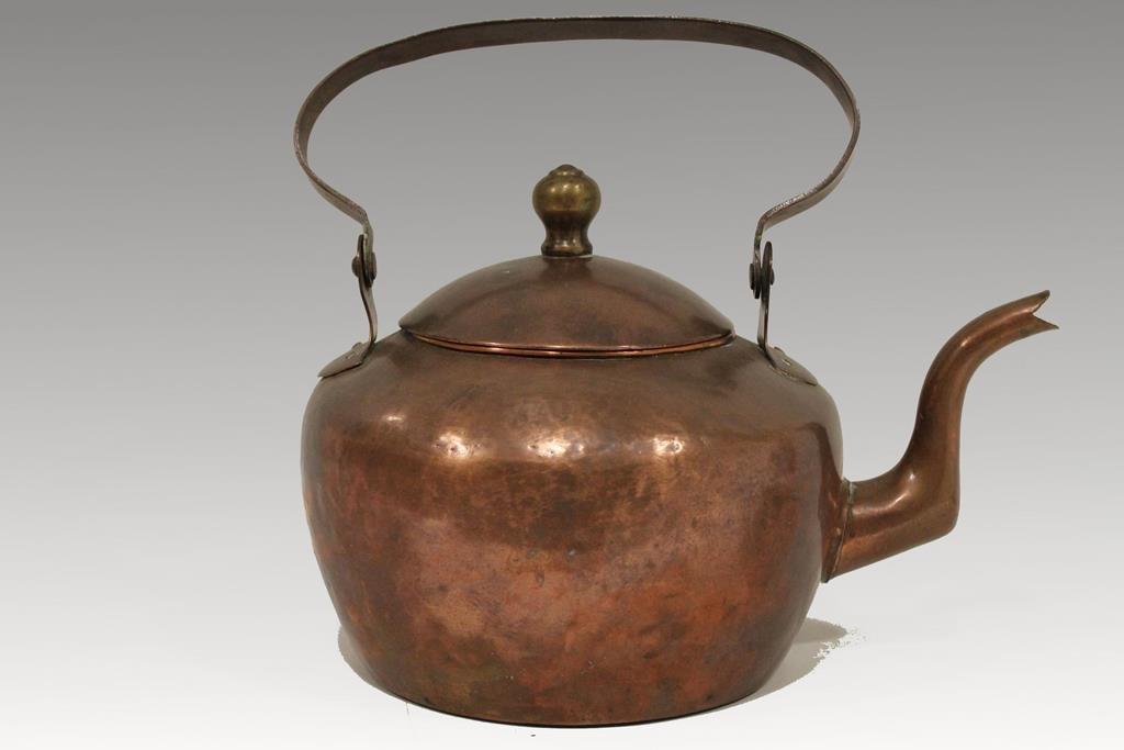 1800s Copper Gooseneck Teakettle