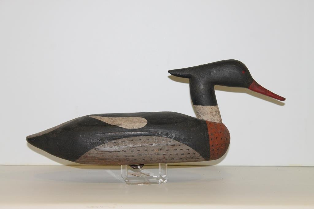 Carved Merganser Duck Decoy Alvin Meeker