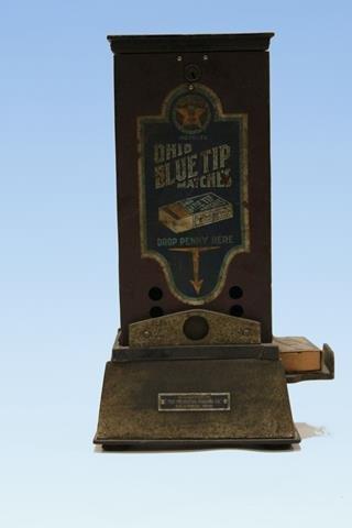 1915 Ohio Blue Tip Matches Vending Machine