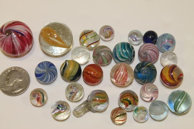 28 Early Marbles - 1 of 18 Lots in Auction