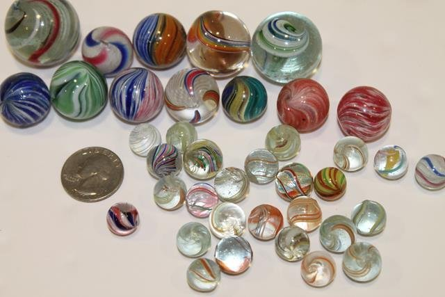 38 Early Marbles - 1 of 18 Lots in Auction