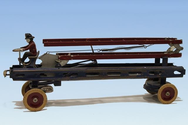 Kingsbury Ladder Fire Truck Windup & Bell