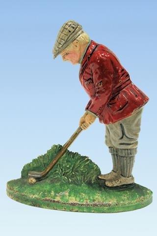 Putting Golfer Hubley #34 Doorstop