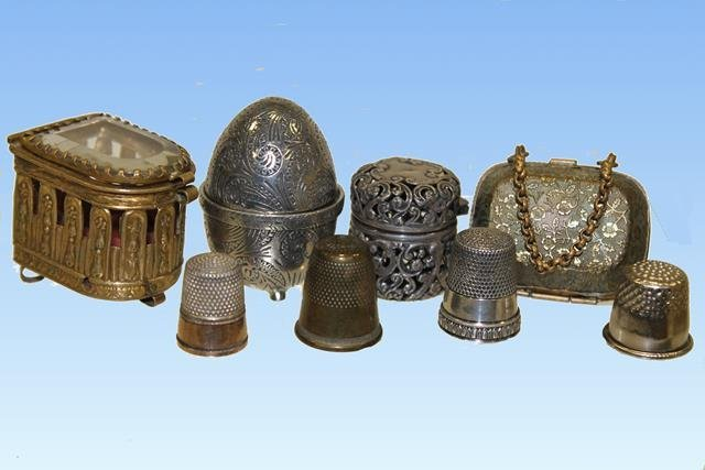 Thimble Holders - Unger Bros Sterling