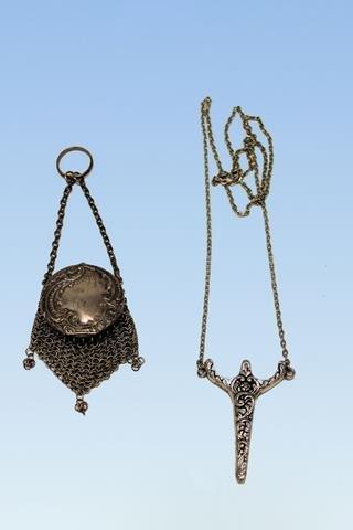Victorian Chatelaines - Purse & Scissors