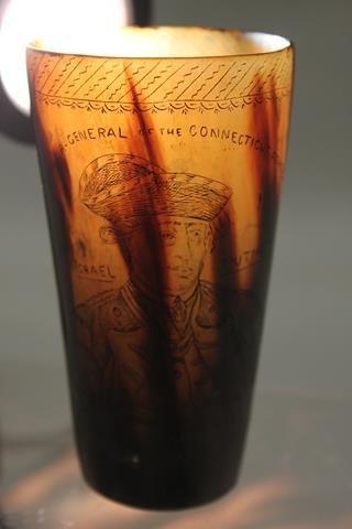 Scrimshaw Cup Putnam Revolutionary War Hero
