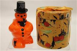 Halloween Snowman Candy Container