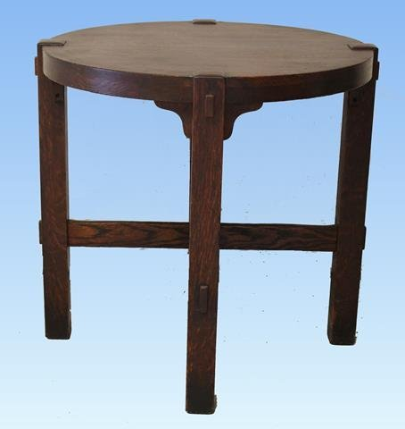 Quarter Sawn Oak Mission Lamp Table