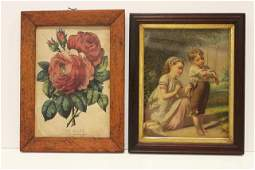 Pair Framed  Victorian Prints