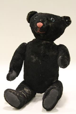 Rare Early Steiff Black Bear w/ Button