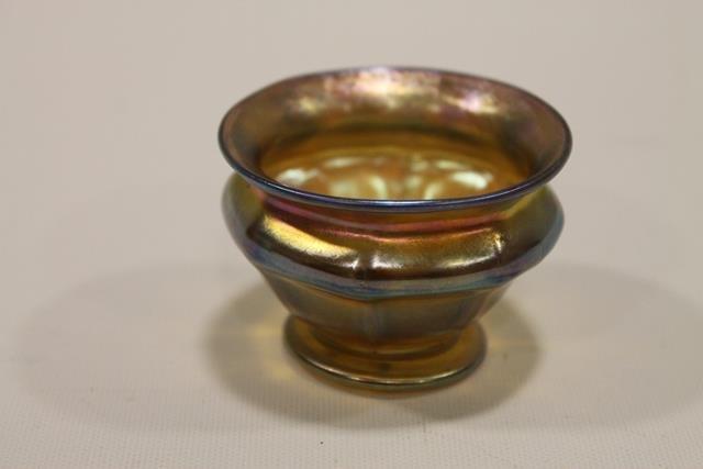 Tiffany Favrile Master Salt Dip Art Glass
