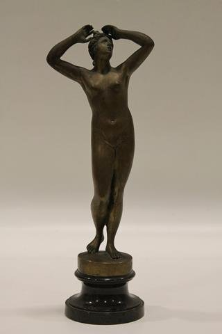 Early 1900s Bronze Nude Statue