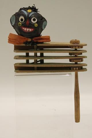 Halloween Black Face Head Noise Maker