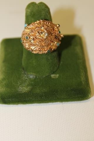 14K Gold Nugget Ring - 11 Grams