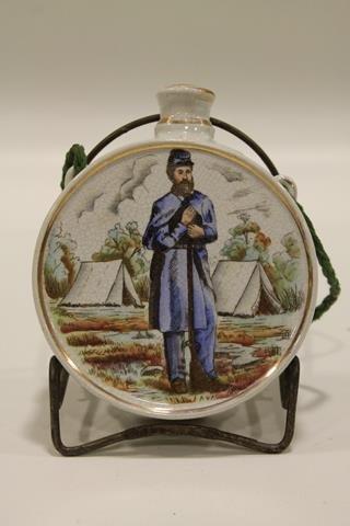 Civil War Soldier Porcelain Canteen
