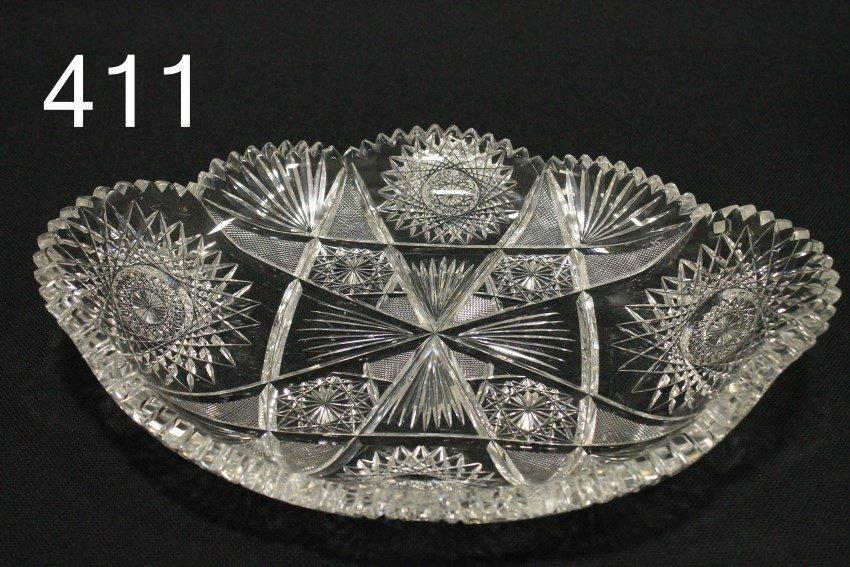 American Brilliant Period Cut Glass Ice Cream Tray