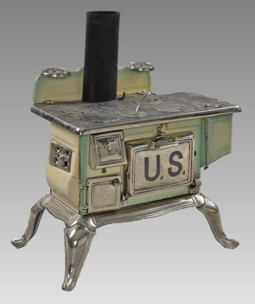 Gothic Porcelain Salesman Sample Stove 1 of 7 in Sale