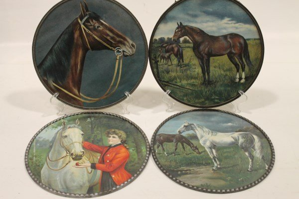 4 Germany Flue Covers - Horses , 1  of 21 Lots in Sale