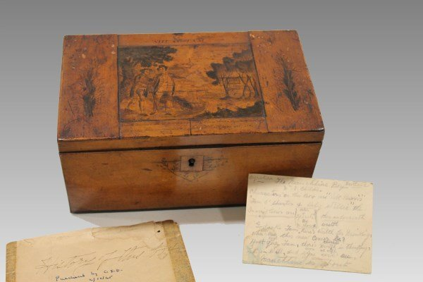 Early Tiger Maple Box with Provenance