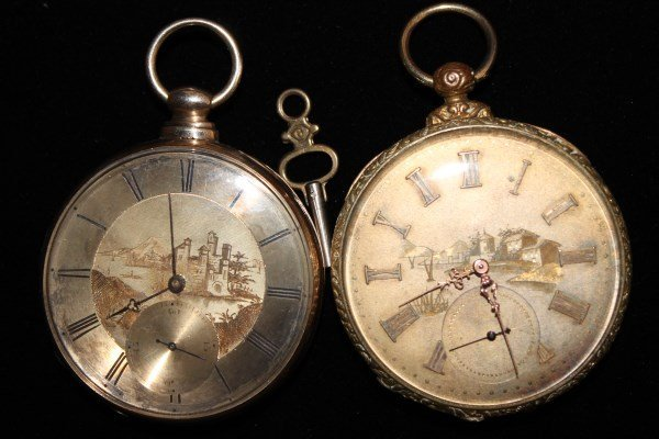 Pair Tobias Keywind Pocket Watches