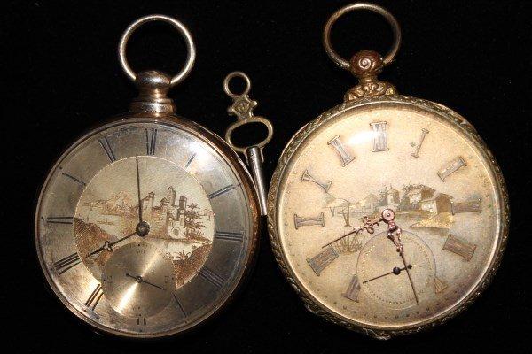 Pair Tobias Keywind Pocket Watches