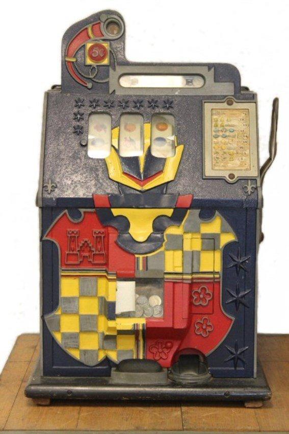 5-Cent Castle Front Mills Slot Machine c1930s