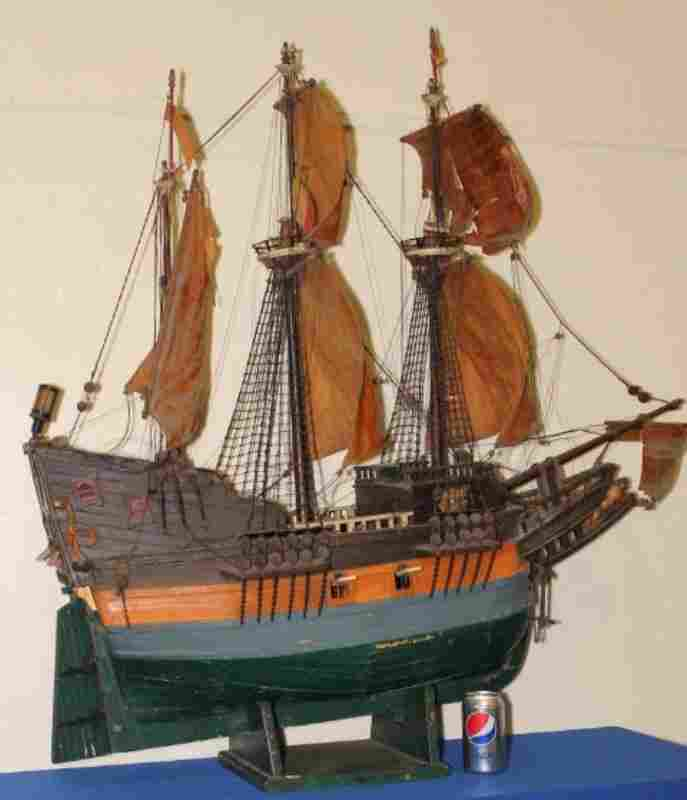 Very Large Early 20th C. Model of 16th C. Frigate