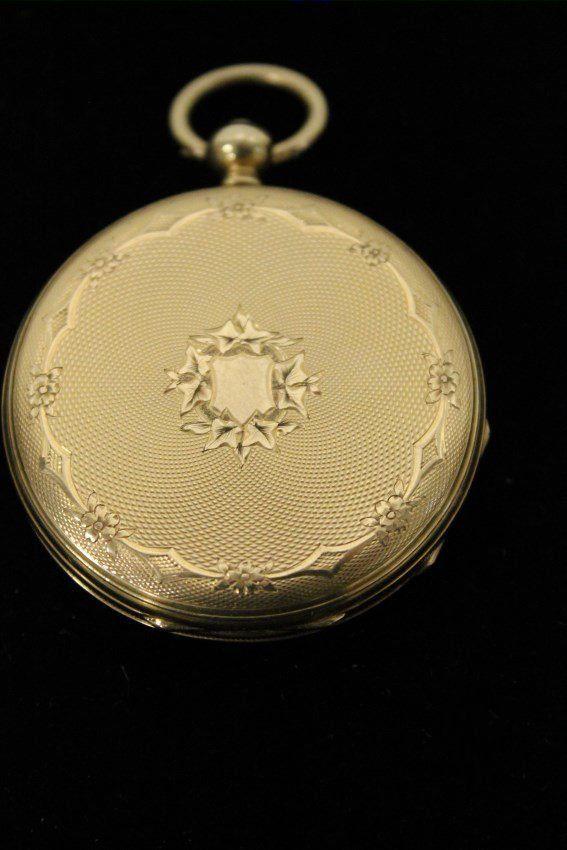 c 1850 Vacheron Freres Swiss 18K Gold Pocket Watch