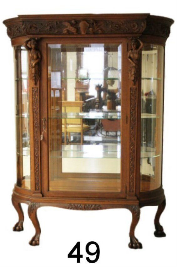 1 of a Matched Pair Horner China Cabinets