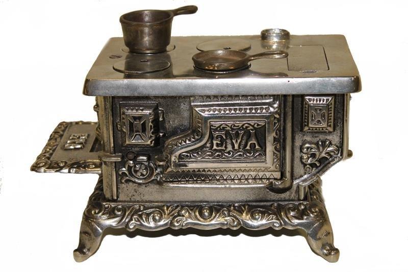 Cast Iron Stove Nickel-Plated Eva