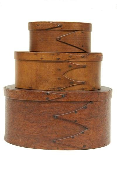 19th C. Oval Shaker Pantry Boxes