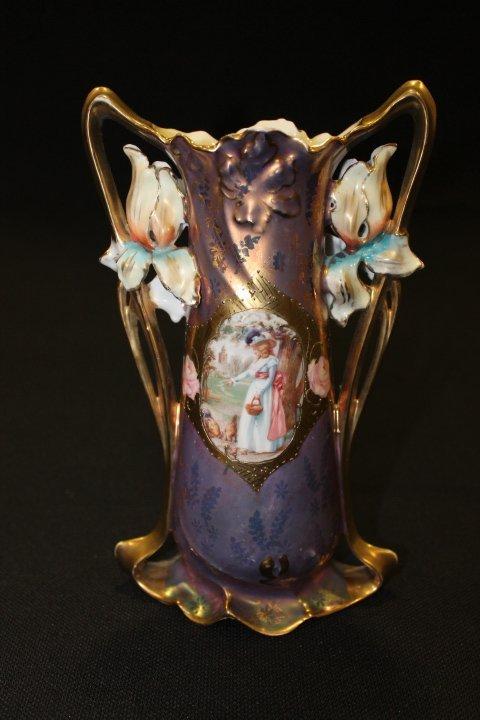 Prussia Royal Vienna Double Portraits Iris Vase