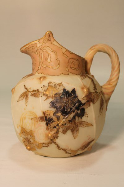 Crown Milano Art Glass Pitcher Silver Inlay 19th C