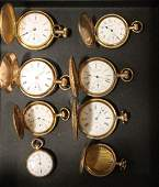 Group of GoldFilled  Hunter Case Pocket Watches