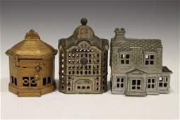 Cast Iron Still Banks - Buildings