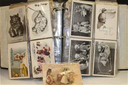 C1900 Postcard Lot of 200 Cats Dogs Louis Wain  Misc
