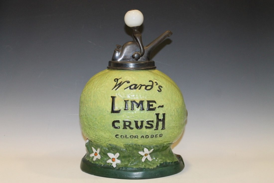 Early 1900 Ward's Syrup Dispenser Lime Crush