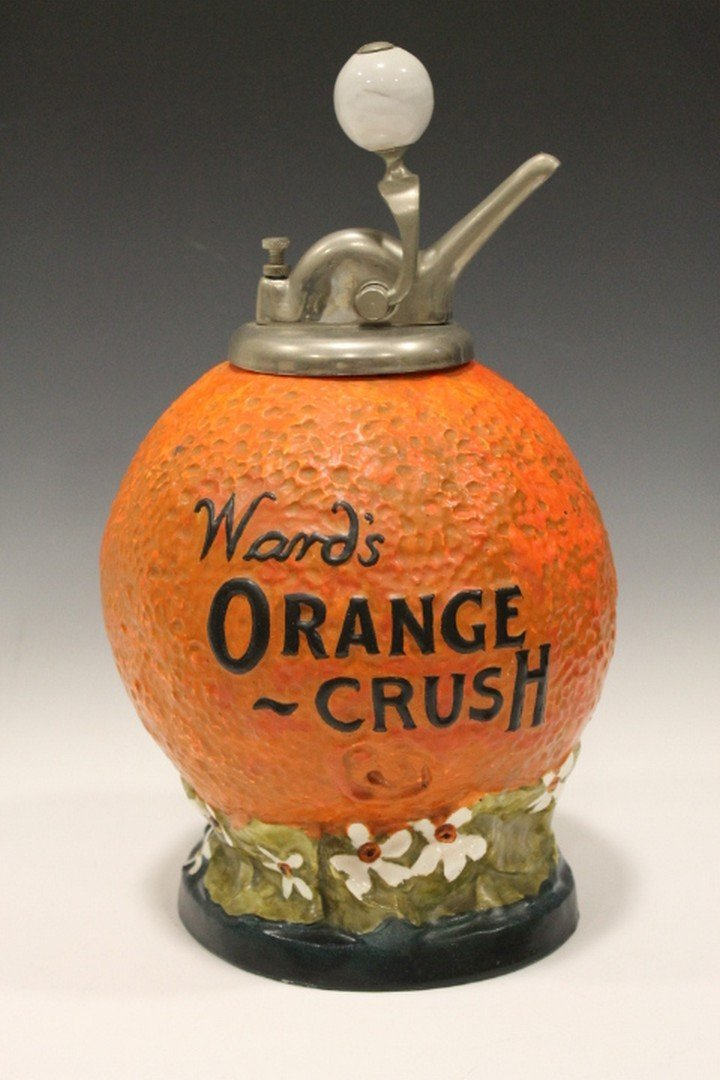 Early 1900 Ward's Syrup Dispenser Orange Crush