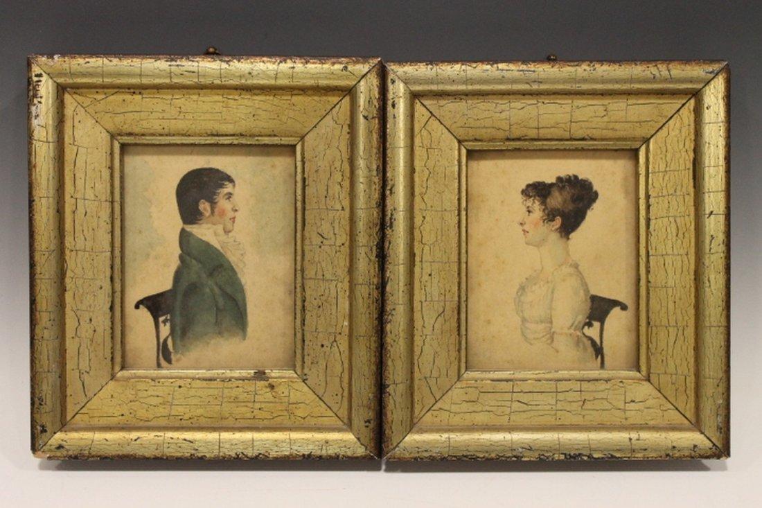C 1820 Wedding Portraits - Watercolor on Paper