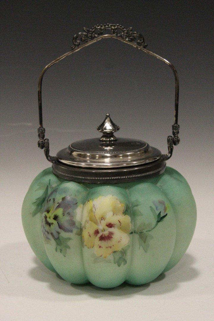 Mt. Washington Decorated Cracker jar